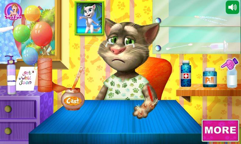 Игры котом томом в больнице
