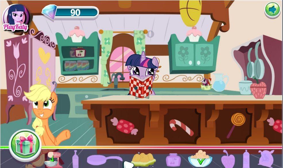 Игры пони сделать торт