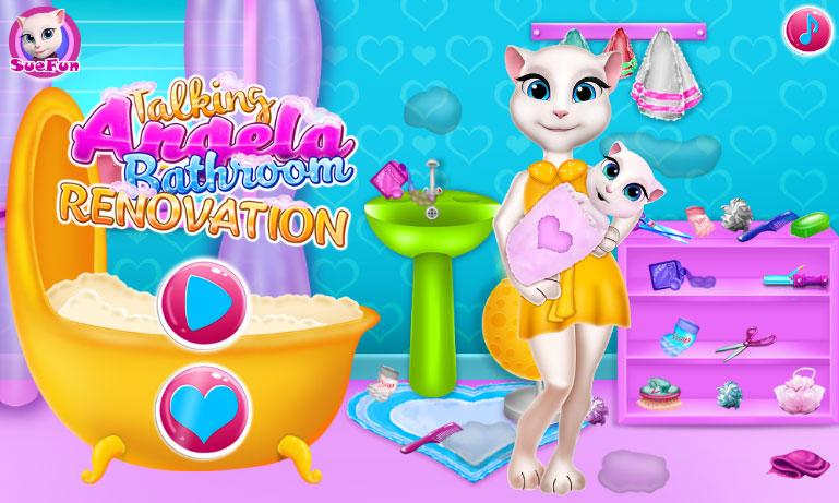 Игры для девочек кот том и кошка анжела бесплатно