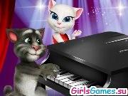 Игра кот том пианино играть